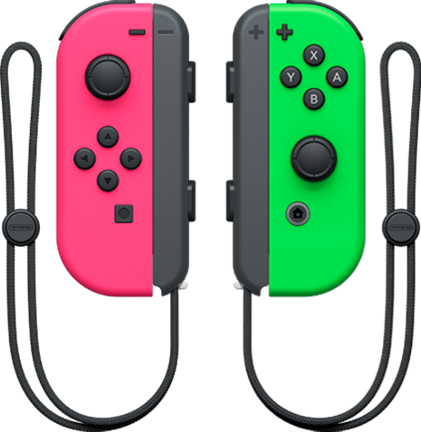 Joy-Con Pair (Neon Green and Neon Pink)