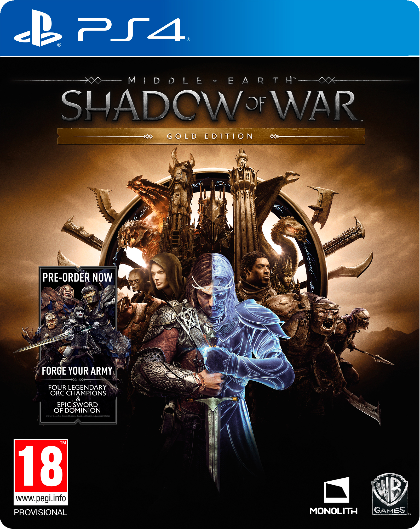 Middle-earth: Shadow of War (Средиземье: Тени Войны) – Gold Edition