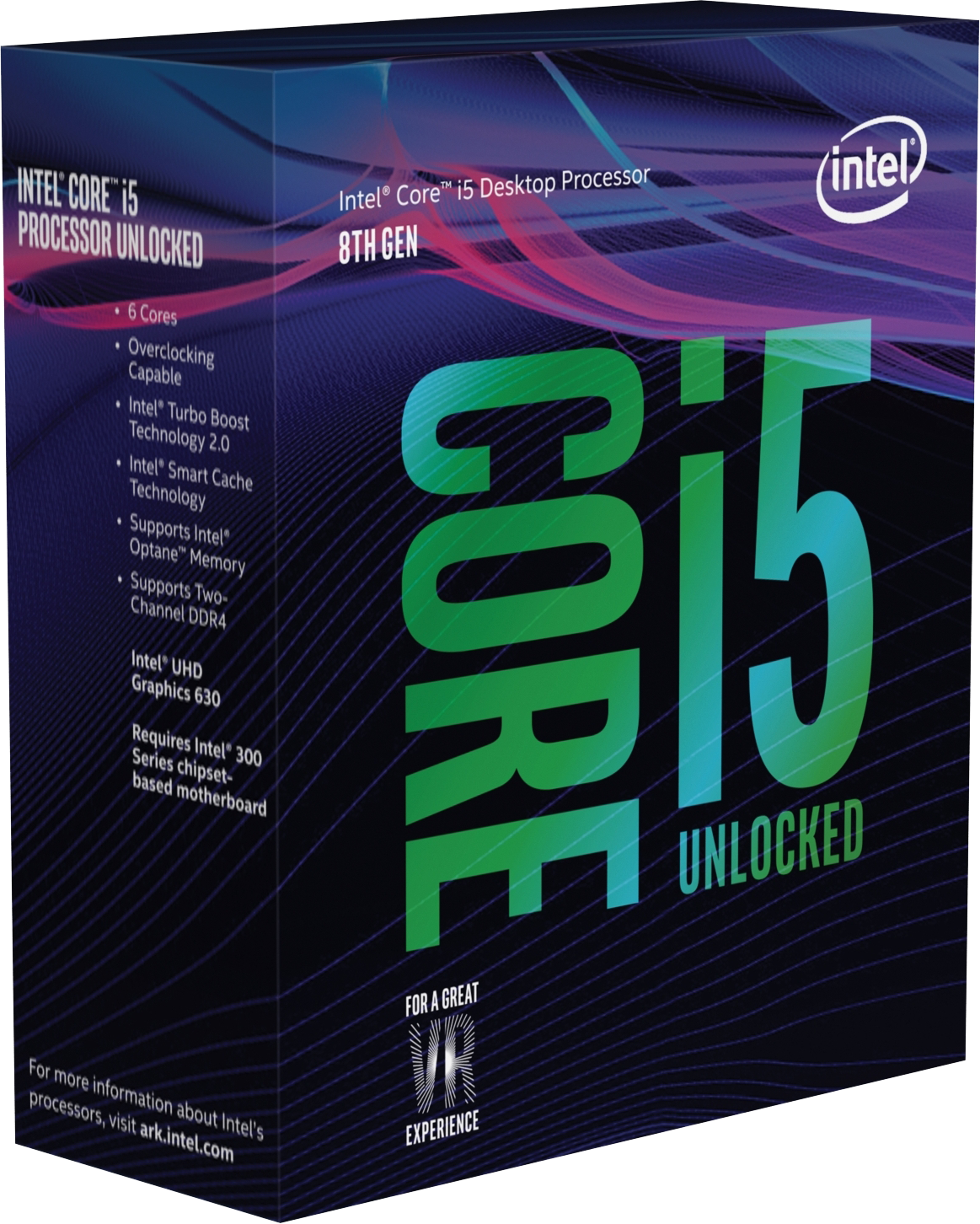 Core i5-8600K Coffee Lake (3,6MHz, LGA1151, L3 9216Kb, BOX)