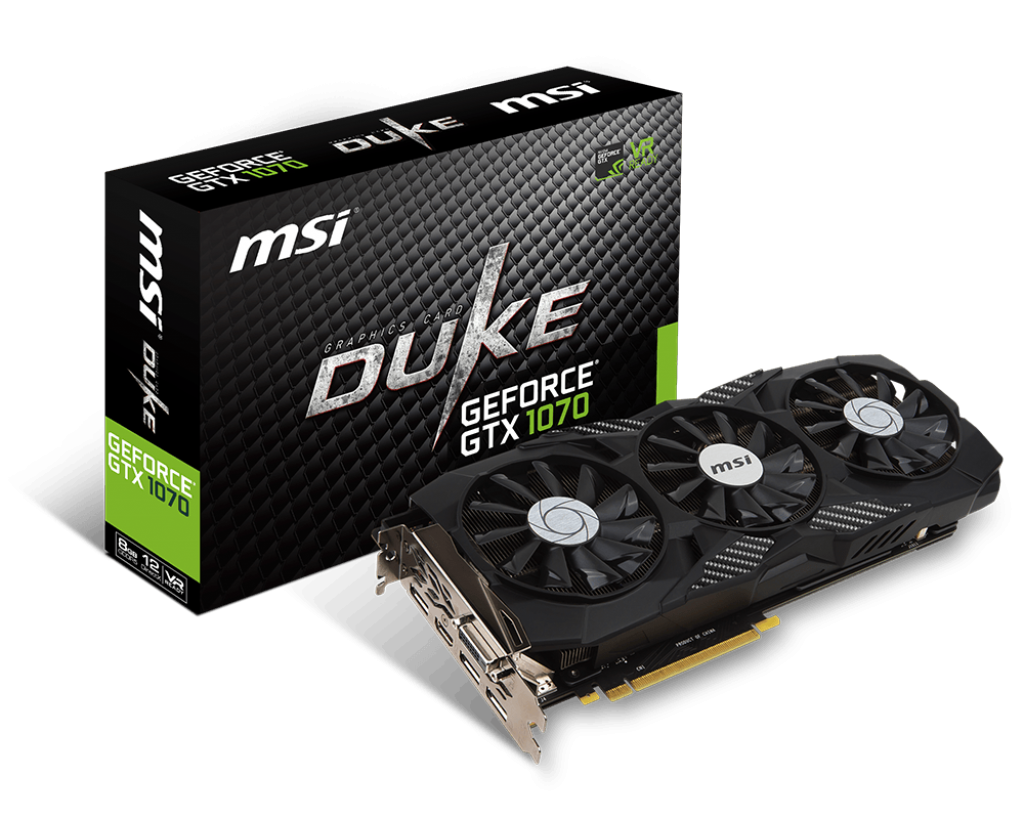 GeForce GTX 1070 Ti 1607MHz 8GB 8008MHz 256bit Duke