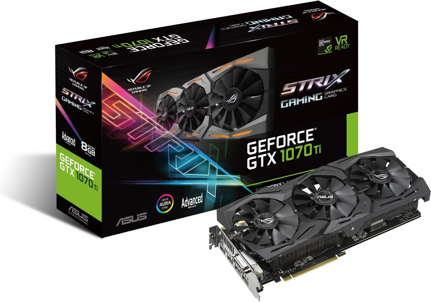 GeForce GTX 1070 Ti 1607MHz 8GB 8008MHz 256bit Strix Gaming Advanced Edition