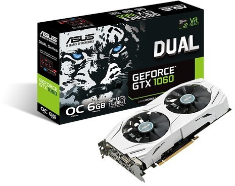 GeForce GTX 1060 1569Mhz 6GB 8008Mhz 192bit