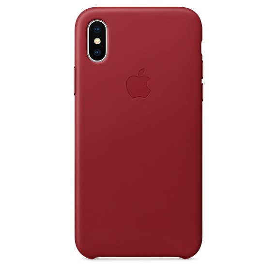 Leather Case for iPhone X (RED)