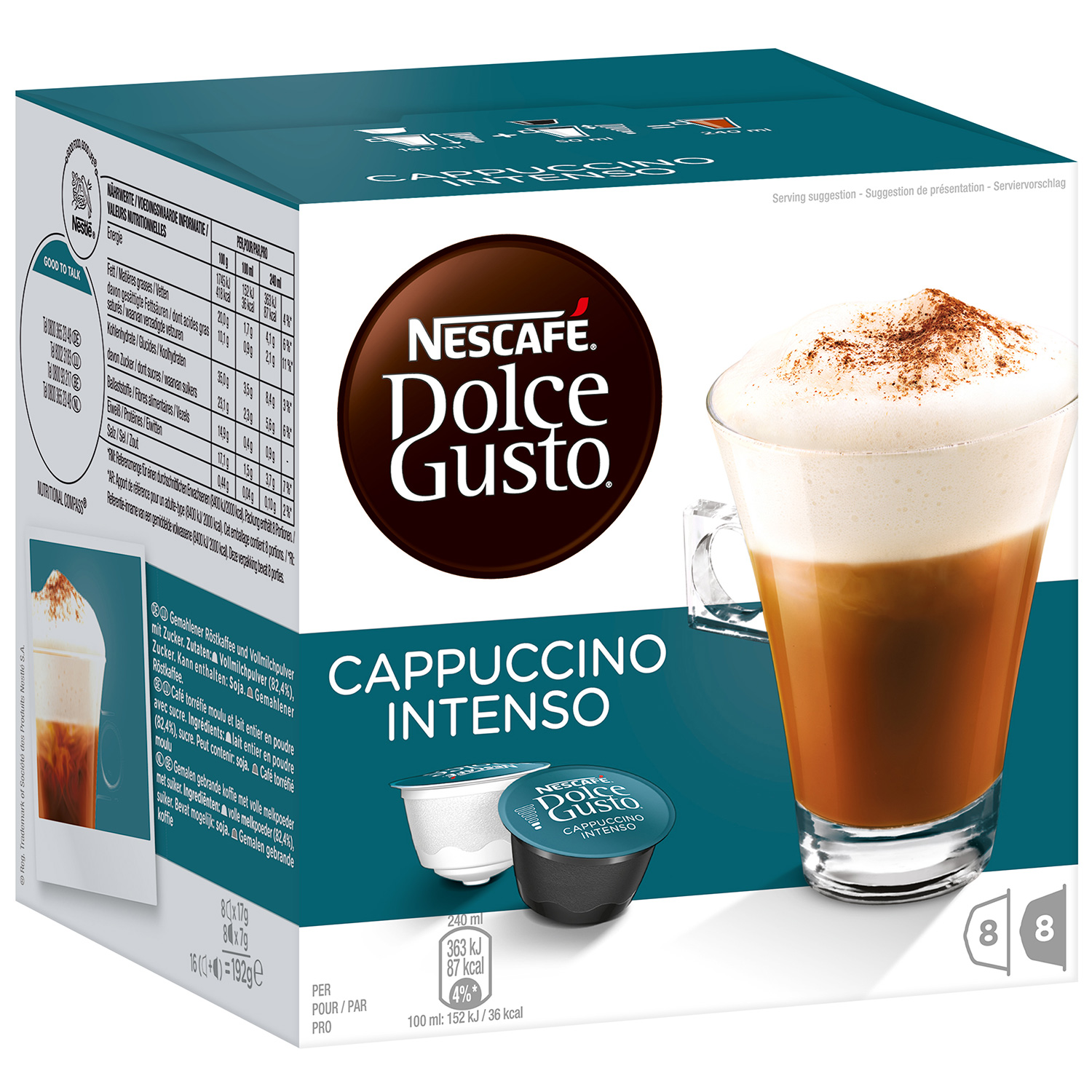 Dolce Gusto Cappuccino Intenso (8 шт.)