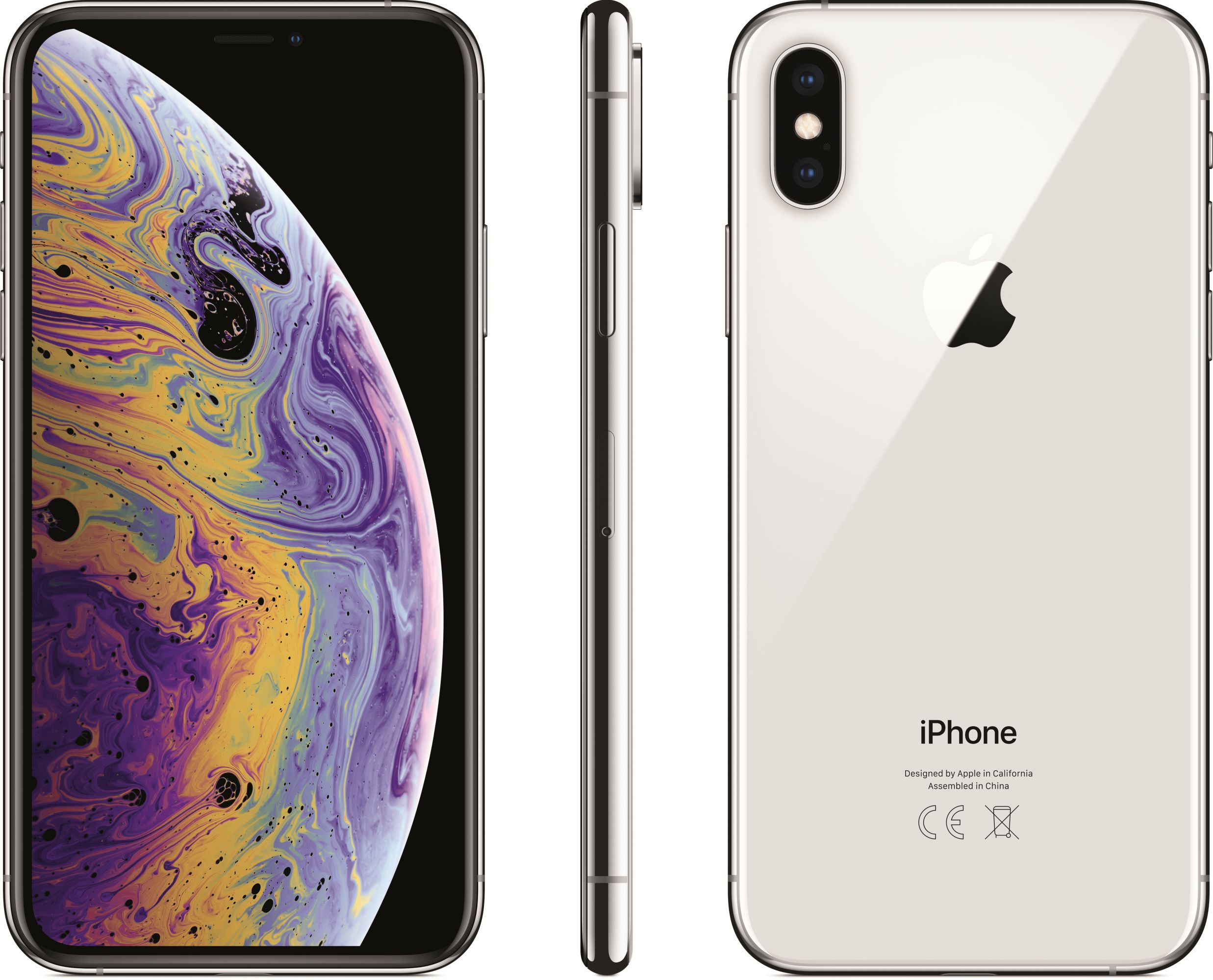 iPhone Xs (64GB, Silver)