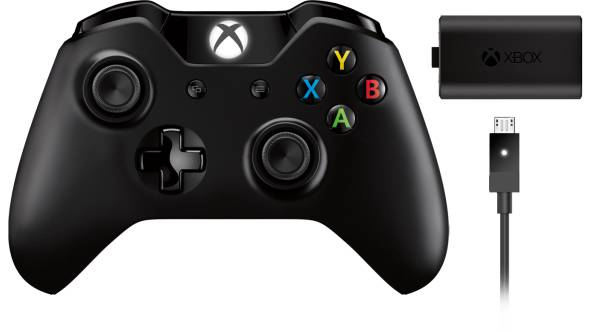 Xbox Wireless Controller (Black) + Play and Charge Kit