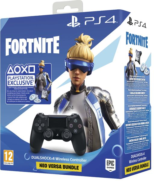 DualShock 4 v2 (Jet Black) + Fortnite
