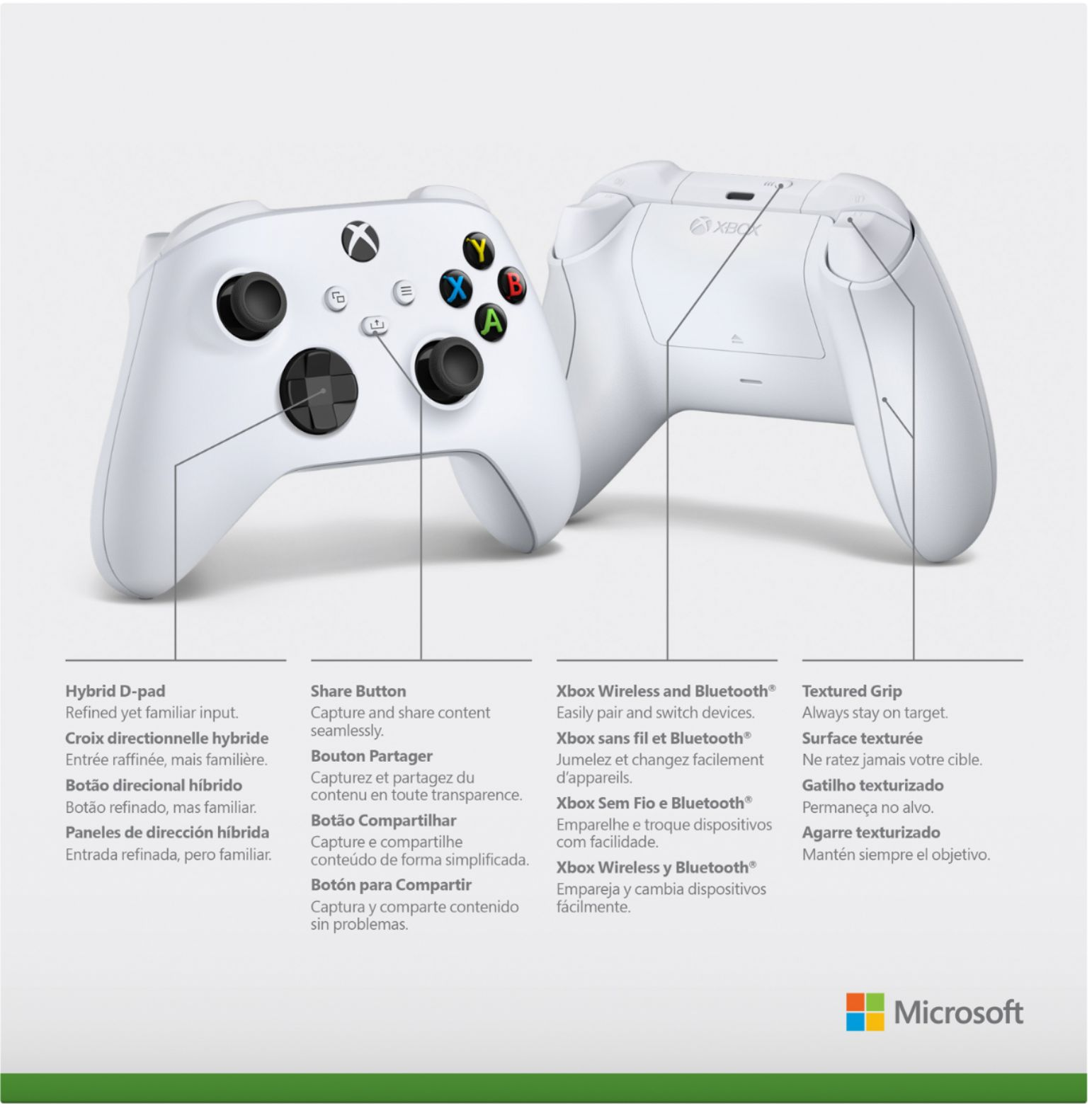 Xbox Wireless Controller v4 (White, Bluetooth)