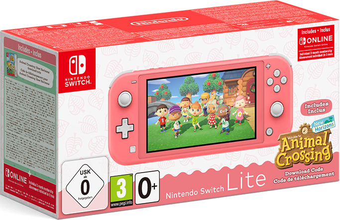 Nintendo Switch Lite (Coral) + animal