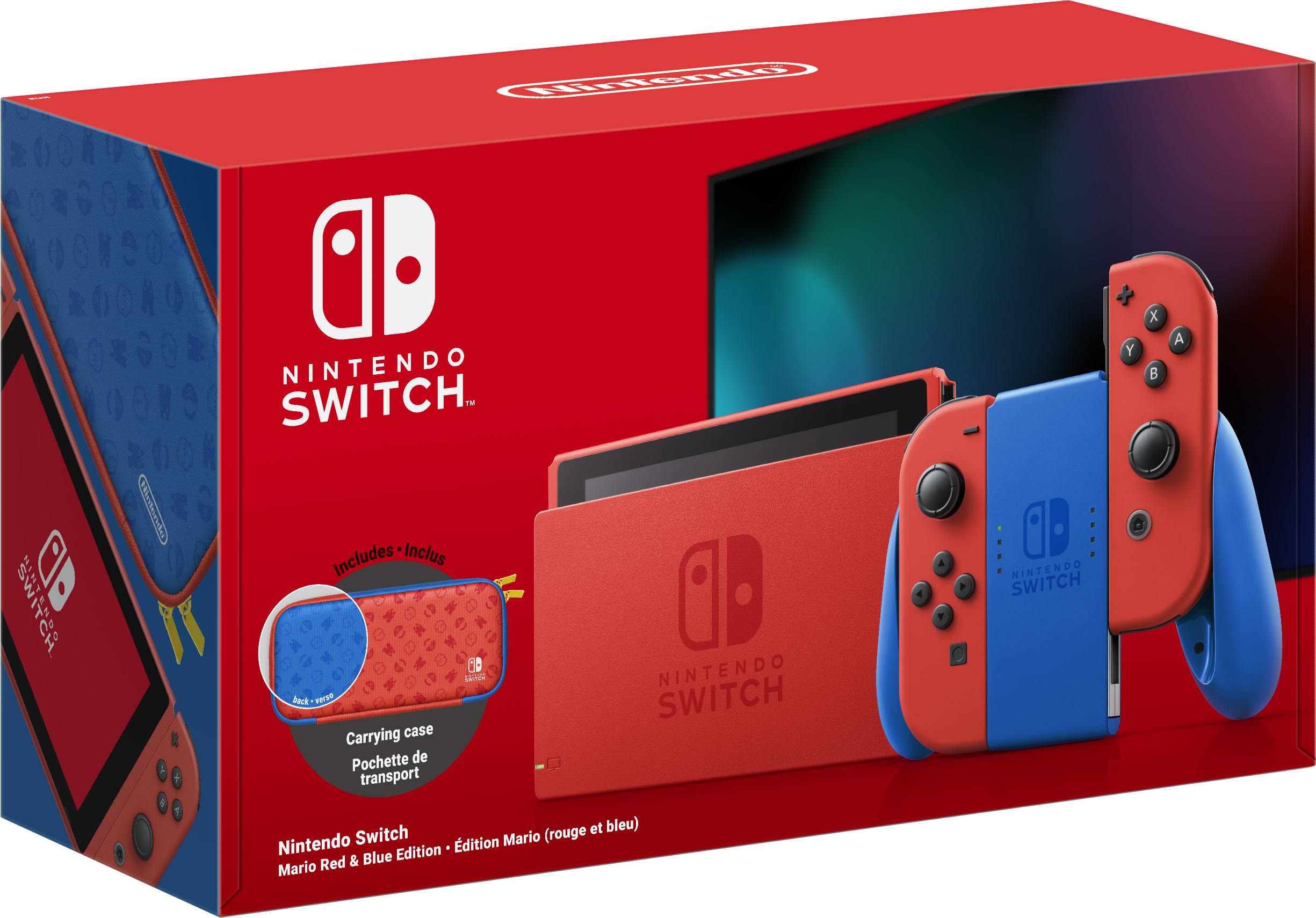 Switch v2 (Mario, Limited Edition) + Case