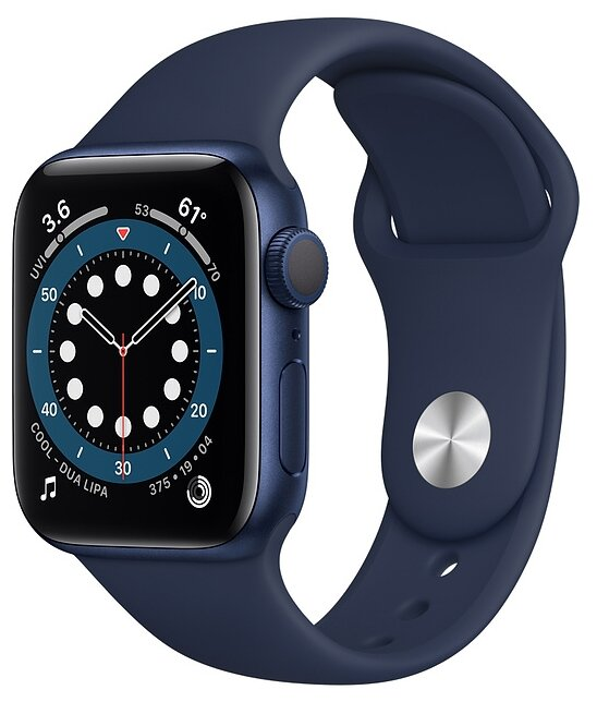 Watch S6 40mm Blue Aluminum Case with Deep Navy Sport Band