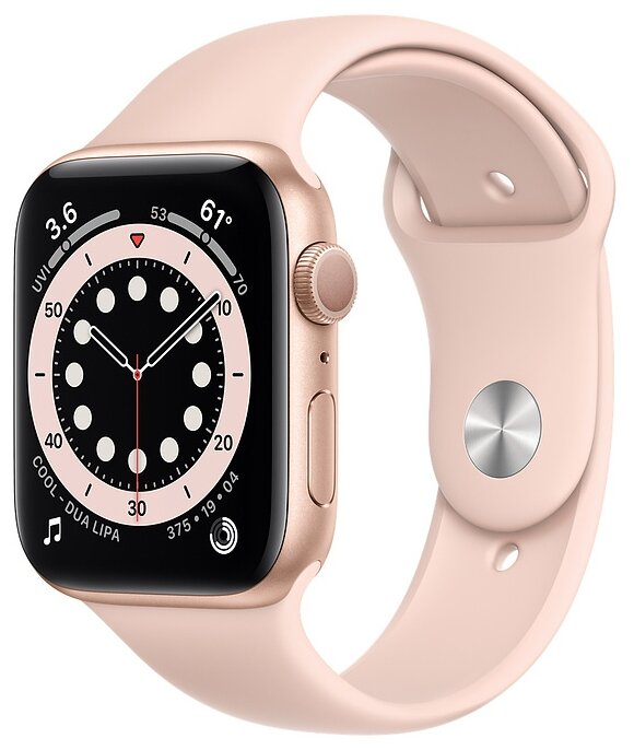 Watch S6 44mm Gold Aluminum Case with Pink Sand Sport Band
