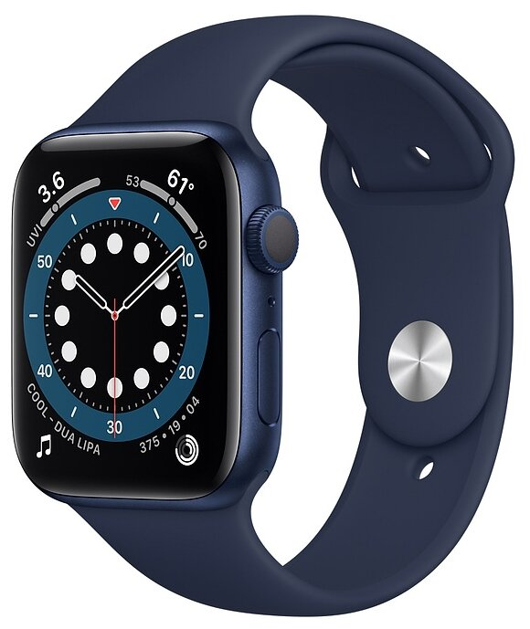 Watch S6 44mm Blue Aluminum Case with Deep Navy Sport Band