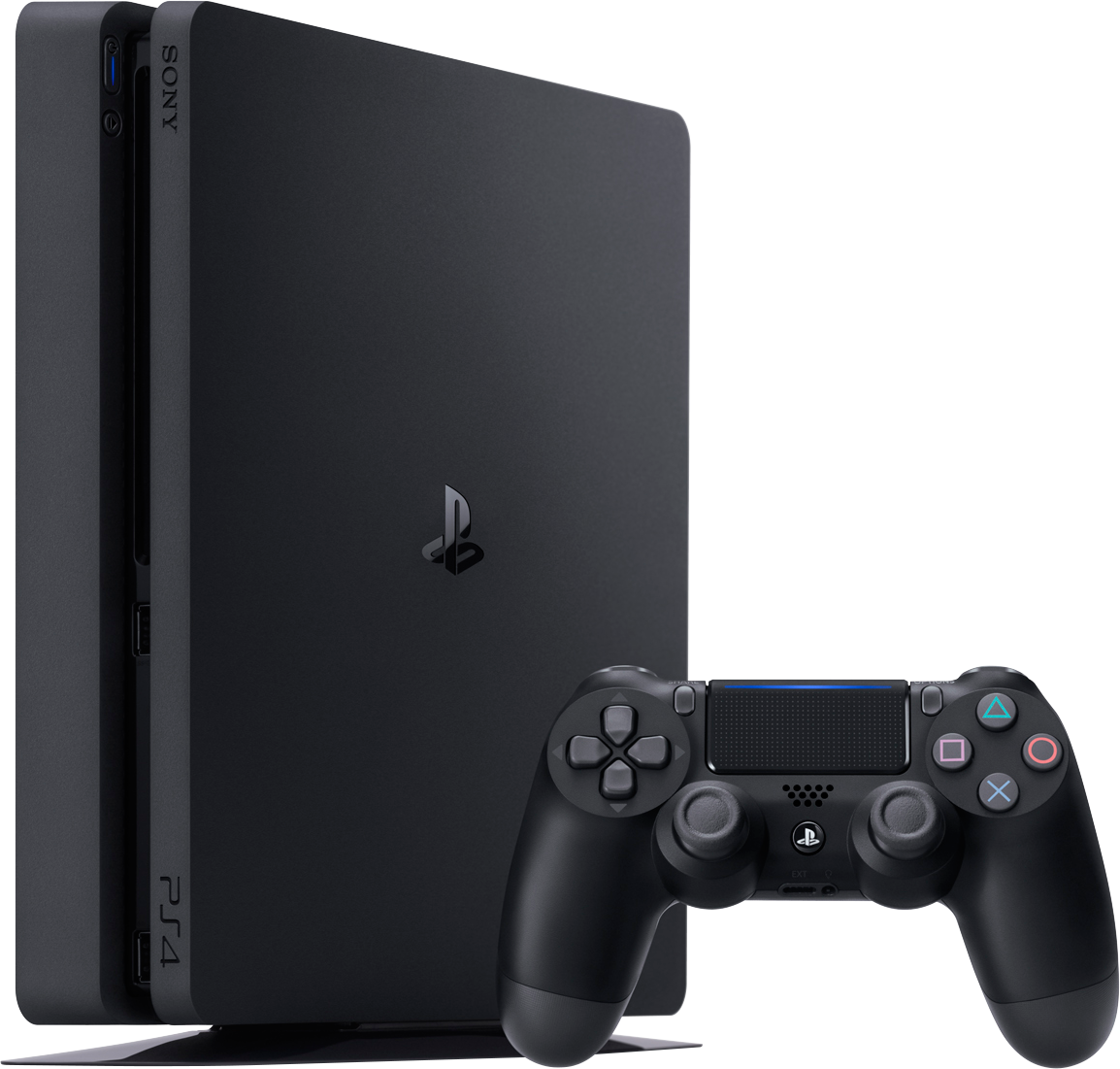 PlayStation 4 Slim (500GB, Jet Black, Б/У)