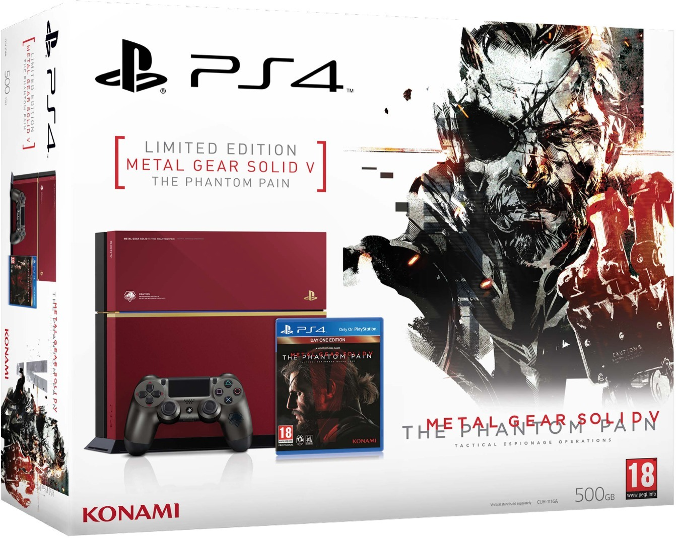 PlayStation 4 (500GB, Limited Edition) + Metal Gear Solid V: The Phantom Pain