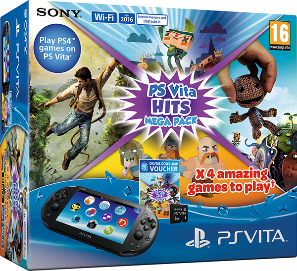 PlayStation Vita + Hits Mega Pack + 8GB