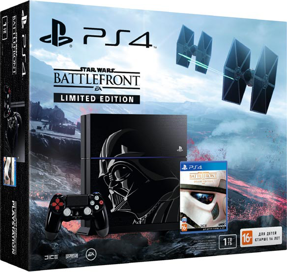 PlayStation 4 (1TB, Limited Edition) + Star Wars: Battlefront