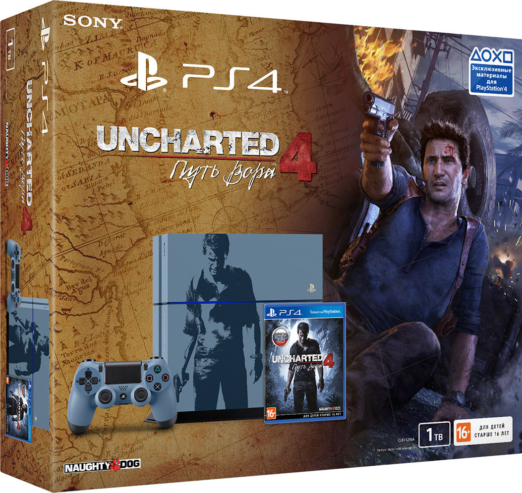 PlayStation 4 (1TB, Limited Edition) + Uncharted 4