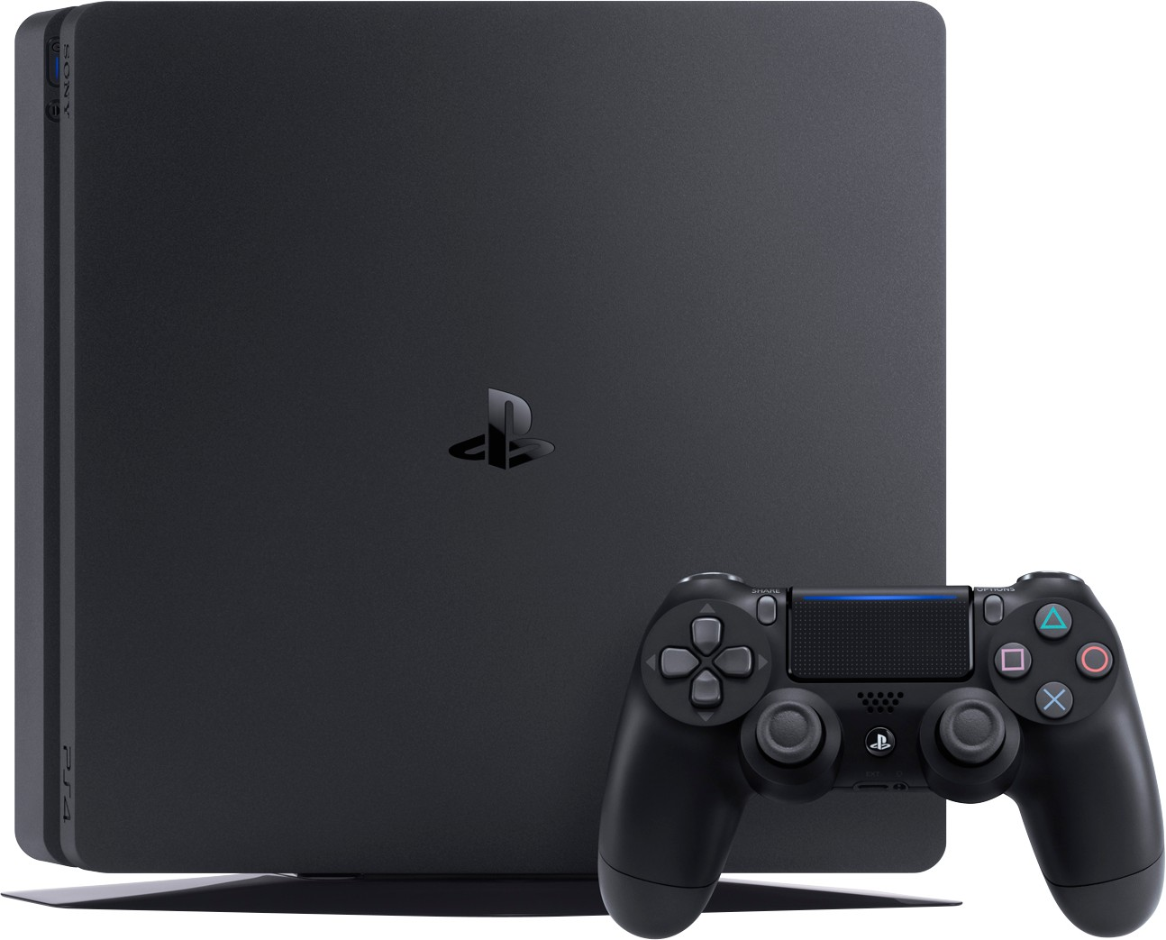 PlayStation 4 Slim (500GB, Jet Black) + Horizon: Zero Dawn + Driveclub + Ratchet & Clank