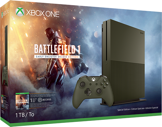 Xbox One S (1TB, Limited Edition) + Battlefield 1
